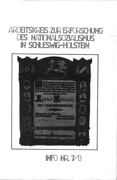 Info 7/8 Titelbild: Ehrenbürgerschaft Hitlers