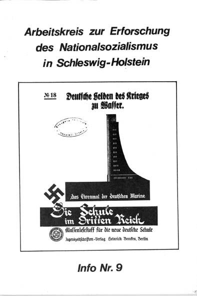 Info 9 Titelbild: Zeitschrift Die Schule im Dritten Reich Nr. 18