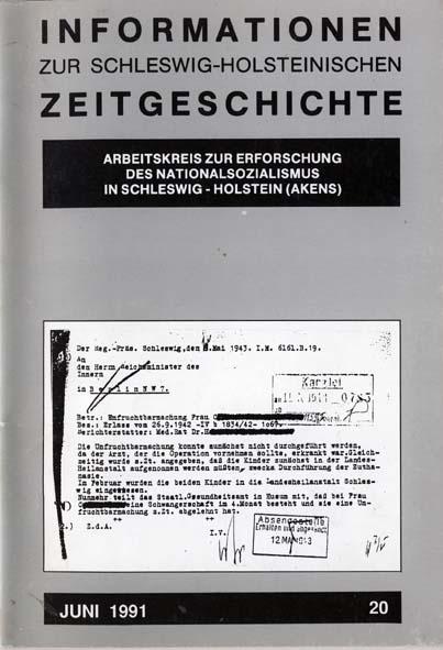 ISHZ 20 Titelbild: Zurückstellung einer Unfruchtbarmachung, Schleswig 1943
