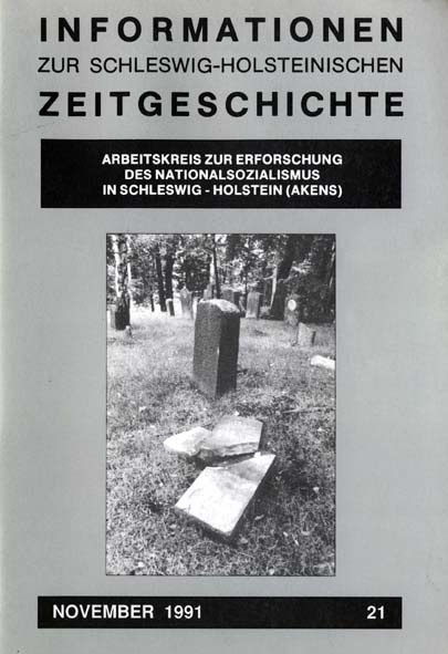 ISHZ 21 Titelbild: Friedhofsschändung in Bad Segeberg im Juli 1988
