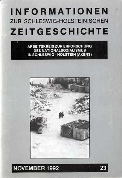 ISHZ 23 Titelbild: Baugrube auf dem ehemaligen jüdischen Friedhof in Hamburg Ottensen 1992