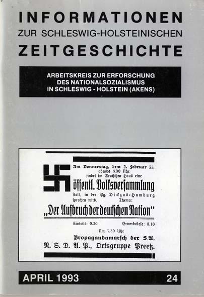 ISHZ 24 Titelbild: Zeitungsanzeige der NSDAP Ortsgruppe Preetz, Februar 1933