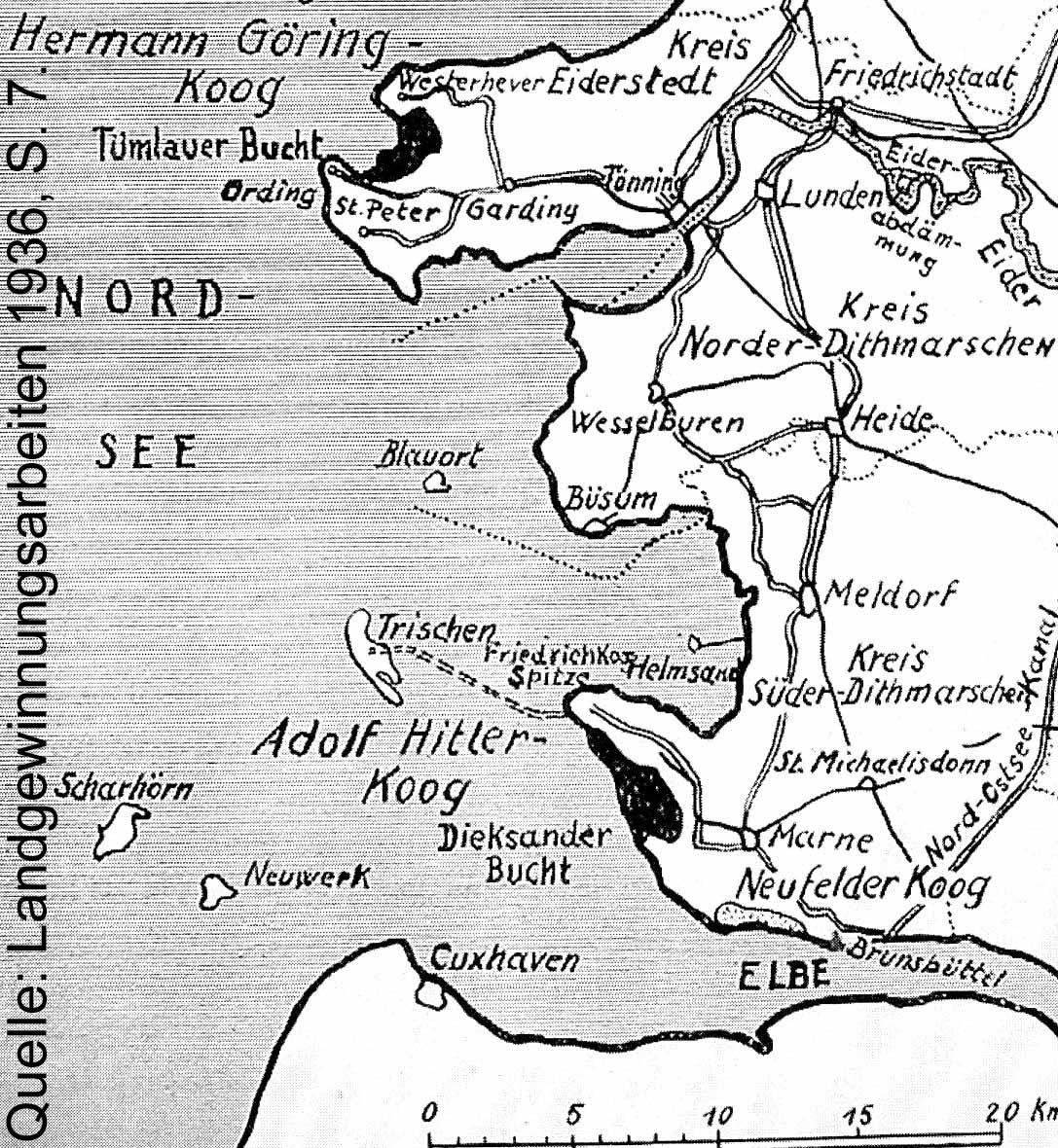 Karte vom Adolf-Hitler-Koog