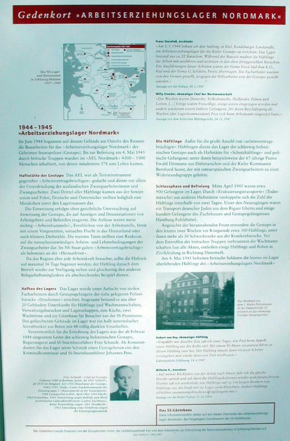 Informationstafel 1: Überblick zur Geschichte des Lagers 1944-1945