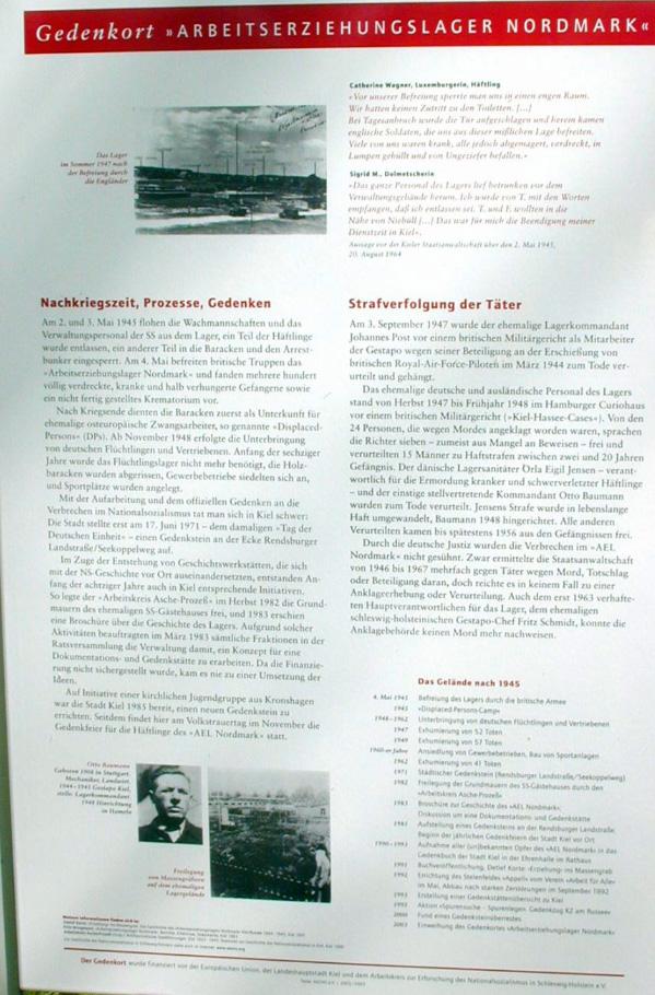 Informationstafel 3: Die Nachkriegszeit, die Prozesse, das Gedenken